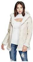 GUESS Women's Ayanna Faux-Leather Shearing Jacket