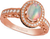 LeVian Le Vian Opal (2/3 ct. t.w.) and Diamond (5/8 ct. t.w.) Ring in 14k Rose Gold, Created for Macy's
