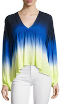 Young Fabulous and Broke Kendra Ombré Top, Blue/Green