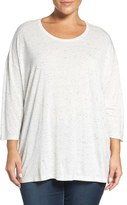 Sejour Speckled Tee (Plus Size)