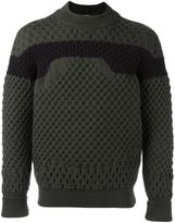 Jil Sander bicolour round neck sweater