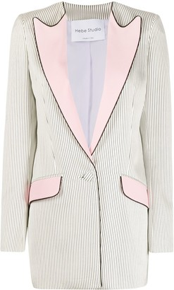 Hebe Studio Striped Blazer