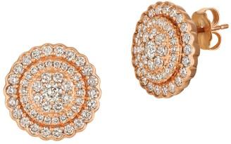 LeVian 14K Strawberry Gold & Nude Diamonds Circle Stud Earrings