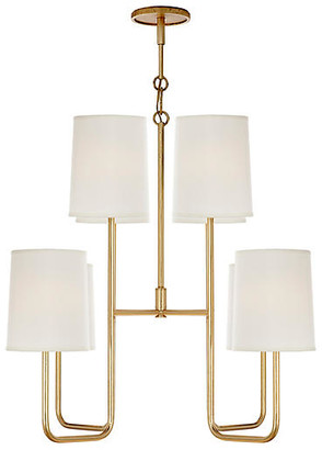 Visual Comfort & Co. Go Lightly Medium Chandelier - Distressed Gold