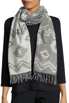 Lord & Taylor Fringed Chevron Wrap or Scarf