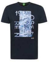 HUGO BOSS Tee 4 Cotton Graphic Print T-Shirt LBlue