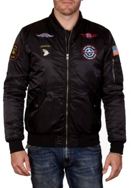 X-Ray Men's Patched Flight Jacket