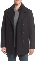 Andrew Marc Men's Burnett Wool Blend Peacoat With Front Insert