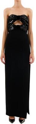 Saint Laurent Sequins Long Dress