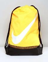 Nike Swoosh Drawstring In Yellow Ba5424-818