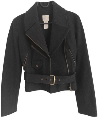 Celine Anthracite Wool Leather jackets