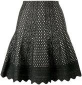 Alexander McQueen laser-cut knitted skirt - women - Silk/Polyester/Viscose - S