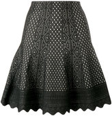 Alexander McQueen laser-cut knitted skirt - women - Viscose/Silk/Polyester - M