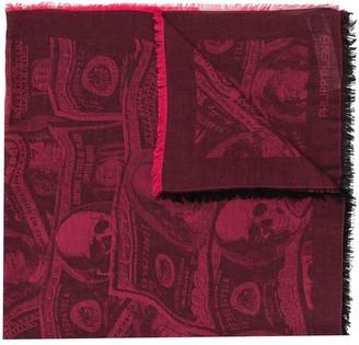 Philipp Plein Dollar print scarf