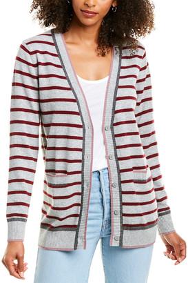 Revive Cashmere Striped Cashmere Cardigan