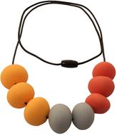 Orange & Gray Abacus Debbie Teething Necklace