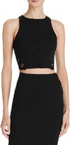 GUESS Mona Lace-Up Crop Top