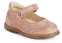 Naturino Baby's & Little Girl's Falcotto Giggle Metallic Suede Mary Jane Flats