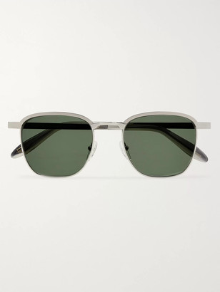 MOSCOT Mish Square-Frame Silver-Tone And Acetate Sunglasses