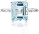 Effy Jewelry Effy Aquarius 14K White Gold Aquamarine and Diamond Ring, 3.96 TCW