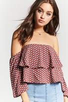 Forever 21 Polka Dot Off-the-Shoulder Top