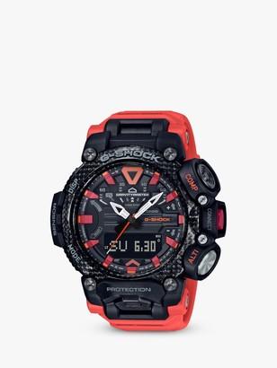 Casio GR-B200-1A9ER Men's G-Shock Carbon Core Gravitymaster Resin Strap Watch, Orange/Black