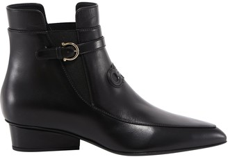 Salvatore Ferragamo Gancini Low Heeled Boots