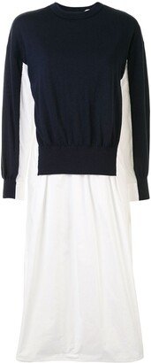 Enfold Colour-Block Flared Dress
