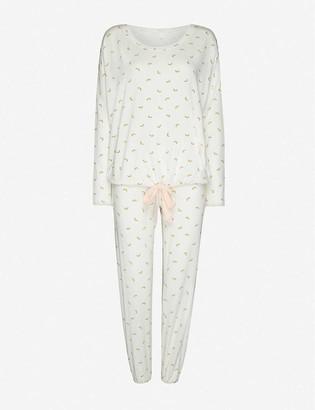 Eberjey Watermelon-print stretch-woven pyjamas
