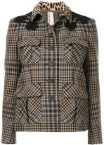 Antonio Marras contrast collar check jacket