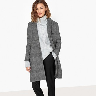 School Rag Long Checked Masculine Coat