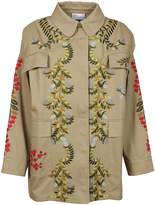 RED Valentino Embroidered Floral Coat