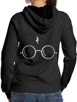 KcoIESisM Harry Potter Glasses Junior Platinum Logo Women's Hooded Sweatshirts