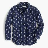 J.Crew Kids' cotton-linen shirt in paisley