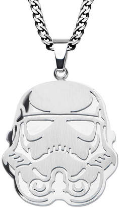 Star Wars FINE JEWELRY Stormtrooper Mens Stainless Steel Cutout Pendant Necklace