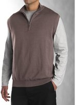 Cutter & Buck Men's Sandpoint Half Zip Golf Vest Wind Sweater