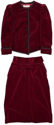 Saint Laurent Red Velvet Jackets