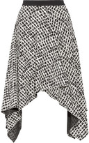 Proenza Schouler Asymmetric Printed Silk Skirt - Black