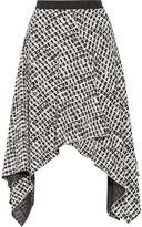 Proenza Schouler Asymmetric Printed Silk Skirt - Black