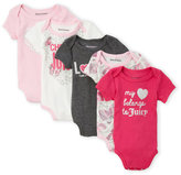 Juicy Couture Newborn/Infant Girls) 5-Pack Heart & Butterfly Bodysuits