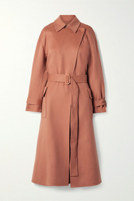 Loro Piana Belted Cashmere Trench Coat - Antique rose