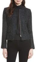 Helene Berman Women's Ribbon Yarn Collarless Jacket