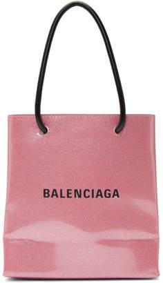 Balenciaga Pink Glitter Everyday Shopping Tote