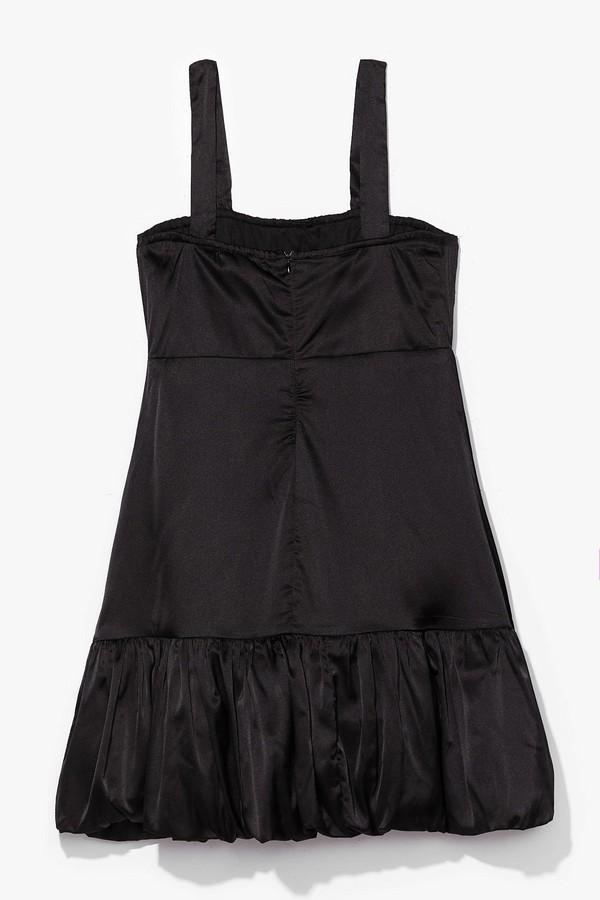 Thumbnail for your product : Nasty Gal Womens Satin Spaghetti Strap Slit Mini Dress - Black - 12