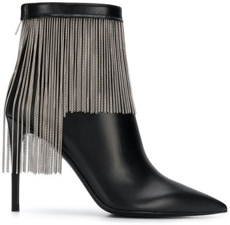Balmain Fringed Ankle Boots