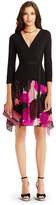 Diane von Furstenberg Riviera Jersey and Chiffon Combo Wrap Dress