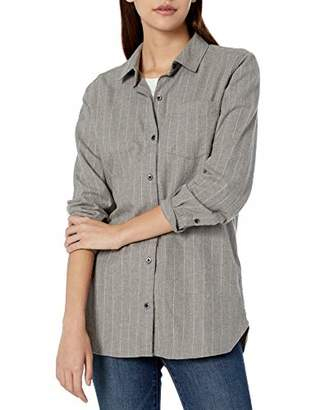 Goodthreads Amazon Brand Women's Brushed Twill Long-Sleeve Button-Front Tunic Shirt