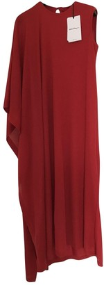 Salvatore Ferragamo Red Cashmere Dresses