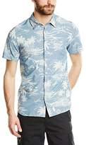 Schott NYC Men's Shisland Short sleeve Button Down Normal Waist Shirt