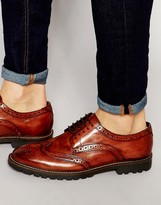 Base London Trench Leather Derby Brogue Shoes